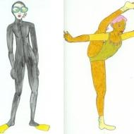 Scuba Diver and Gymnast
